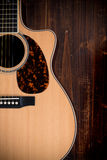 Traditional acoustic guitar royalty free stock image
