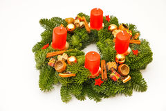 Traditional advent wreath Stock Images