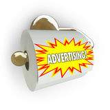 Traditional Advertising Ineffective - Toilet Paper Royalty Free Stock Photos