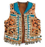 Traditional Afghani waistcoat decorated with old coins Royalty Free Stock Photography