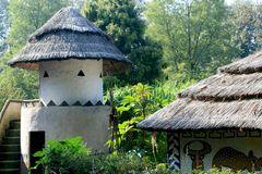 Traditional African architecture Royalty Free Stock Photos