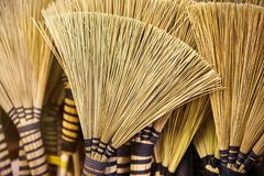 African brooms art background. Traditional African brooms background, artistic view texture with many straws Stock Images