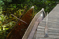 Traditional African canoes Stock Images