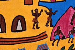 Traditional african children art Royalty Free Stock Image
