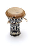 Traditional african drum. Isolated over white Royalty Free Stock Image