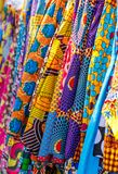 Traditional African Fabric in Many Patterns. Traditional West African fabric from Ghana in many colors and patterns royalty free stock photos