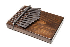 Traditional African instrument kalimba or thumb piano Stock Image