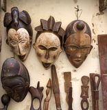 Traditional African masks Royalty Free Stock Photo