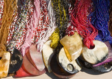 Traditional African necklaces Royalty Free Stock Photography