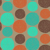 Traditional African Ornament with swirls. Seamless vector patter Stock Photos
