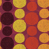 Traditional African Ornament with swirls. Seamless vector patter Royalty Free Stock Image