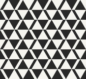 Traditional African ornamental design, monochrome structure of repeating triangular shapes Royalty Free Stock Image