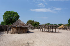 Traditional african village with houses Royalty Free Stock Photography