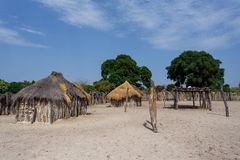 Traditional african village with houses Royalty Free Stock Images