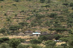 Traditional African villages in Ethiopia Stock Photos