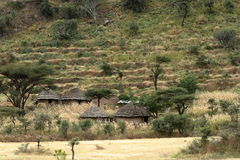 Traditional African villages in Ethiopia Royalty Free Stock Images