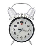Traditional alarm clock (white background). Separated alarm clock Royalty Free Stock Photography