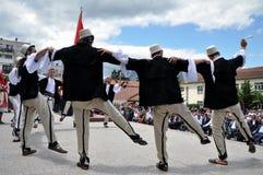Traditional Albanian dancer, Kosovo Stock Image