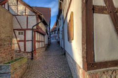 Traditional Alley in Seligenstadt Royalty Free Stock Image