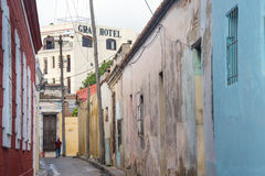 Traditional alleyways architecture in Camaguey,Cuba Stock Images