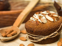 Traditional almond muffins cupcake Royalty Free Stock Image