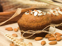 Traditional almond muffins cupcake Royalty Free Stock Images