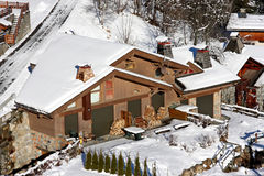 Traditional alpine cabin Royalty Free Stock Photos