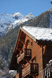 Traditional alpine cabin Stock Image