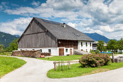Traditional Alpine farmhouse royalty free stock image