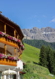 Traditional alpine house Royalty Free Stock Photos