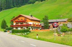 Traditional Alpine house,Dolomites,Sudtirol,Italy Royalty Free Stock Images