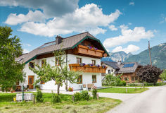 Traditional Alpine house in the mountains Royalty Free Stock Photo