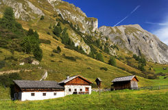 Traditional alpine house Stock Photography