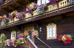 Traditional alpine house Stock Images
