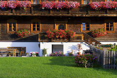 Traditional alpine house Royalty Free Stock Images
