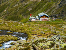 Traditional alpine hut Stock Image