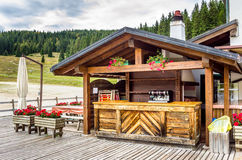 Traditional Alpine Restaurant Stock Photography