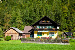 Traditional alpine-style house Stock Image