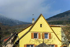 Traditional alsace country house, spring day Stock Photography