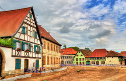 Traditional Alsatian houses in Molsheim - France. Traditional Alsatian houses in Molsheim - Bas-Rhin, France stock images