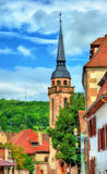 Traditional Alsatian houses in Molsheim - France Stock Photos