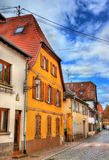 Traditional Alsatian houses in Molsheim - France Royalty Free Stock Photos