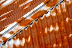 Colourful Aluminium Made House Roof Top Background Photograph Royalty Free Stock Images