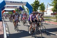 Traditional amateur cycling event Marathon Franja Stock Photo