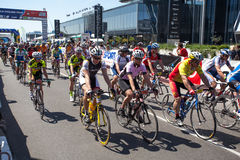 Traditional amateur cycling event Marathon Franja Stock Images