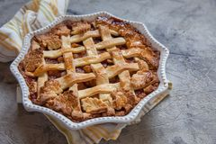 Traditional American Apple pie Royalty Free Stock Photography