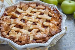 Traditional American Apple pie Royalty Free Stock Photo