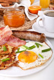 Traditional American breakfast Stock Photos