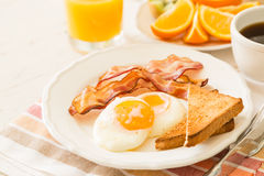 Traditional american breakfast Royalty Free Stock Photography