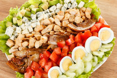 Traditional American Cobb Salad Stock Images